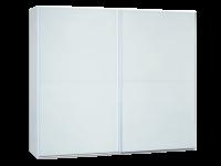 Neue Modular Primolar Venezia 2-türiger Schwebetürenschrank Korpua Dekor weiss mit Glasfront weiß lackiert optional mit Dämpfer