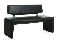 Standard Furniture Solobank Ibiza mit oder ohne Rückenlehne Einzelbank mit Bezug Elektra in vier Farben wählbar