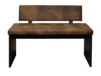 Mäusbacher Barbank mit oder ohne Rückenlehne für Ihr Esszimmer oder Partyraum Polsterbank in Kunstleder Farbe wählbar Gestell Schwarzstahl Dekor
