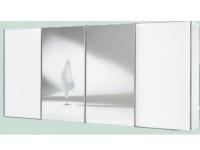 Staud Sinfonie Plus Schwebetüren Panoramaschrank Ausführung 2 Teilfront in Spiegel Teilfront und Korpus Dekor wählbar