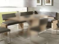 Wimmer acerro Eckbank mit Rückenlehne ca. 190 x 150 cm Sitzfläche und Rücken fest gepolstert mit Massivholzteilen für Esszimmer und Küche