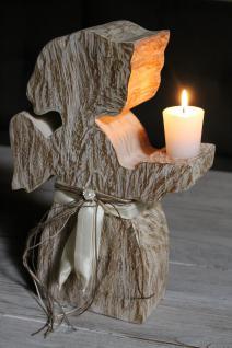 Engel aus Teakholz, ca. 30 cm hoch, Dekoration, Holz Figur