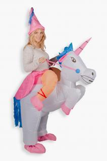 Aufblasbares Kostüm Einhorn Reiter Karneval