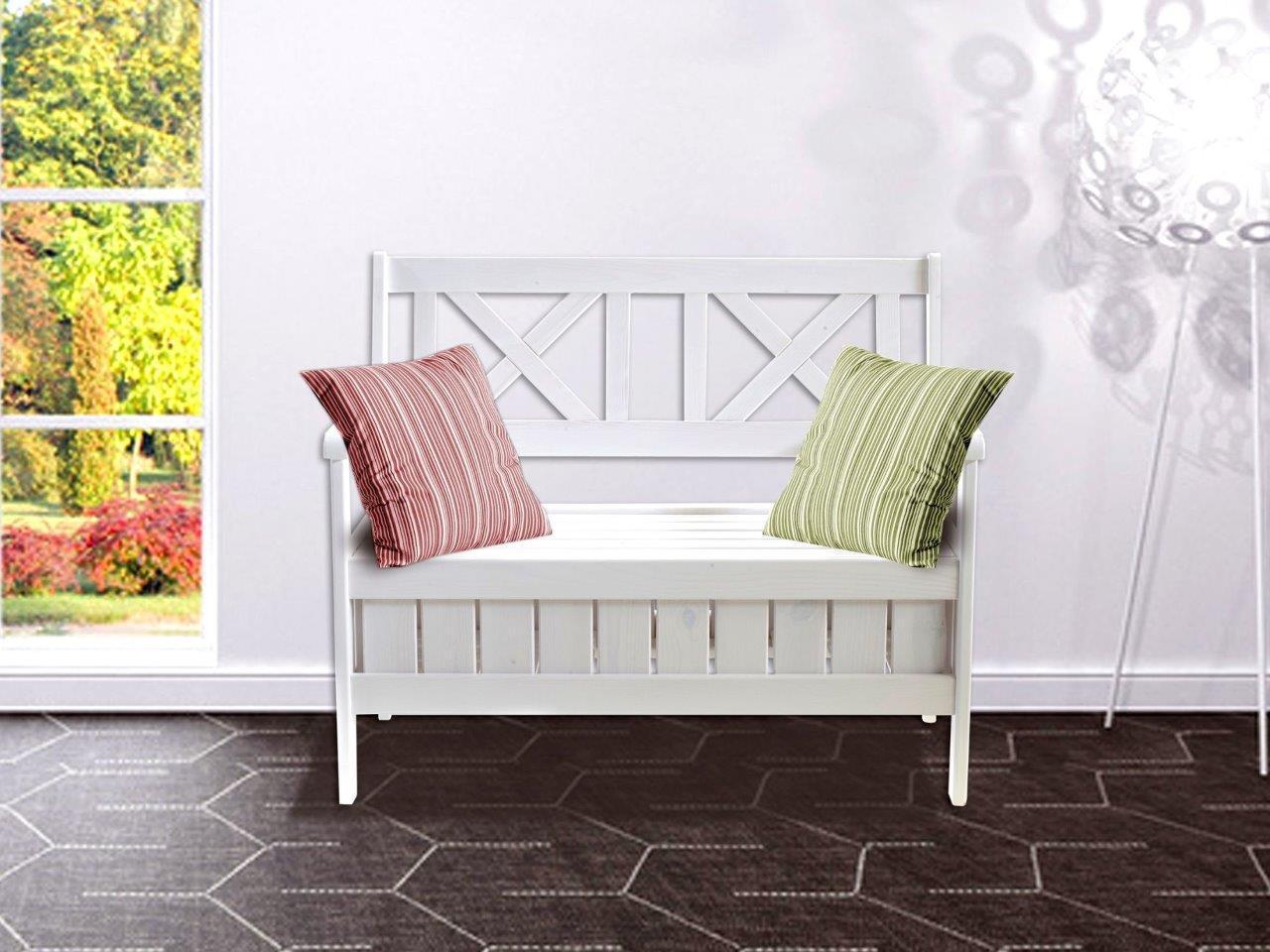 truhenbank sitzbank k chenbank holzbank landhaus shabby chic wei kaufen bei trendy home 24 gmbh. Black Bedroom Furniture Sets. Home Design Ideas