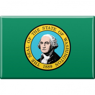 Magnet - US-Bundesstaat Washington - Gr. ca. 8 x 5, 5 cm - 37147 - Küchenmagnet