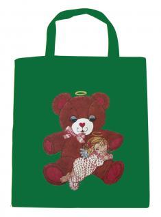 (08903/2-grün) Umweltfreundliche Baumwoll - Tasche , ca. 28 x 43 cm mit Aufdruck