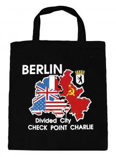 (09559-Tasche) Umweltfreundliche Baumwoll - Tasche , ca. 28 x 43 cm mit Aufdruck? Berlin?