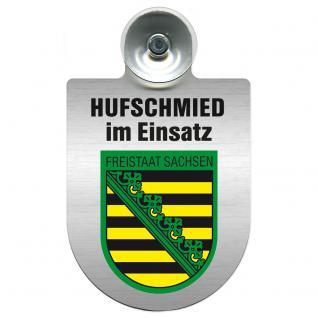 Einsatzschild Windschutzscheibe incl. Saugnapf - Hufschmied im Einsatz - 309391-3 - Region Freistaat Sachsen