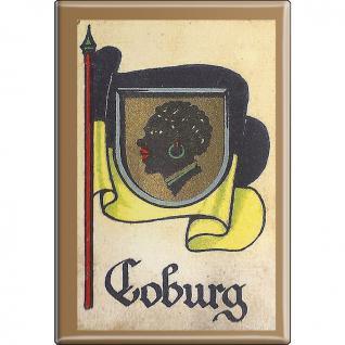 Küchenmagnet - Wappen Coburg - Gr. ca. 8 x 5, 5 cm - 37514 - Magnet Kühlschrankmagnet
