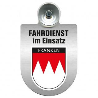 Einsatzschild Windschutzscheibe incl. Saugnapf - Fahrdienst im Einsatz - 309458 Region Franken