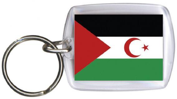 Schlüsselanhänger Anhänger - WESTSAHARA - Gr. ca. 4x5cm - 81186 - Keyholder WM Länder