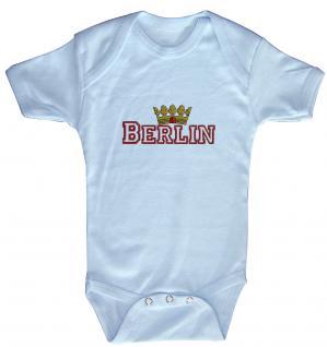 """(12737-hellblau) Baby-Body mit Druckmotiv """" Berlin"""""""