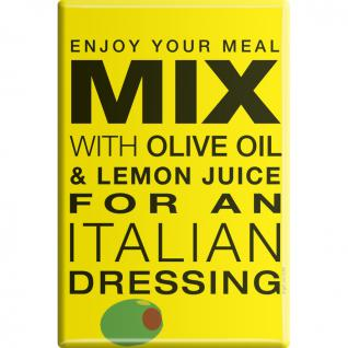 Kühlschrankmagnet - Enjoy Your Meal ... - Gr. ca. 8 x 5, 5 cm - 38913 - Magnet Küchenmagnet