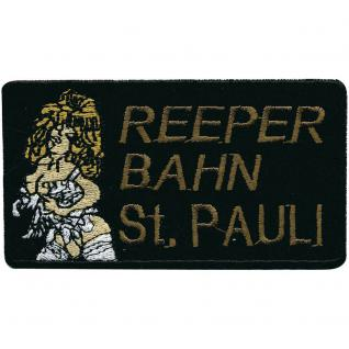 AUFNÄHER - Reeperbahn St. Pauli - 00368 - Gr. ca. 10, 5 x 4 cm - Patches Stick Applikation