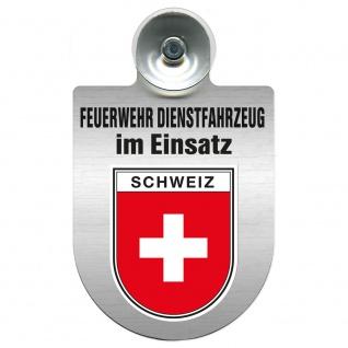 Einsatzschild Windschutzscheibe incl. Saugnapf - Feuerwehr Dienstfahrzeug im Einsatz - 393801 - incl. Regionen nach Wahl Region Schweiz