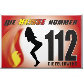 Magnet - Feuerwehr 112 - Gr. ca.8 x 5, 5 cm - 38419 - Küchenmagnet