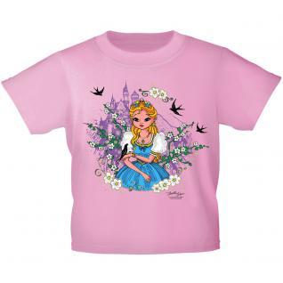 Kinder T-Shirt mit Glitzerprint - Prinzessin und Schloss - 12271 - rosa / 122/128