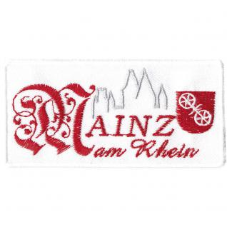 AUFNÄHER - MAINZ - 00070 - Gr. ca. 9, 5 x 5, 5 cm - Patches Stick Applikation
