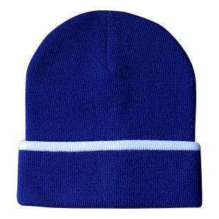 Beanie-Mütze mit Einstickung ? Neutral ? 41655 Blau