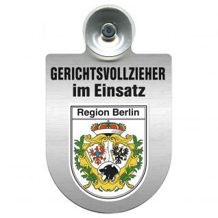 Einsatzschild Windschutzscheibe incl. Saugnapf - Gerichtsvollzieher im Einsatz - 309744-14 - Region Berlin