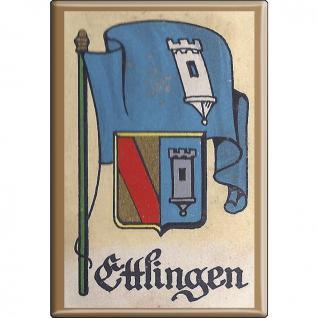 Küchenmagnet - Wappen Ettlingen - Gr. ca. 8 x 5, 5 cm - 37520 - Magnet Kühlschrankmagnet