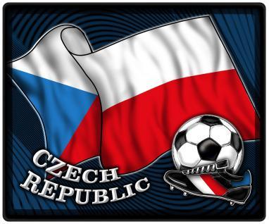 Mousepad Mauspad mit Motiv - Tschechien Fahne Fußball Fußballschuhe - 83172 - Gr. ca. 24 x 20 cm
