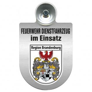 Einsatzschild Windschutzscheibe incl. Saugnapf - Feuerwehr Dienstfahrzeug im Einsatz - 393801 - incl. Regionen nach Wahl Region Brandenburg