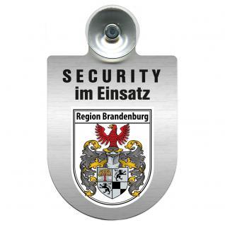 Einsatzschild Windschutzscheibe - Security im Einsatz - incl. Regionen nach Wahl - 309350 Region Brandenburg