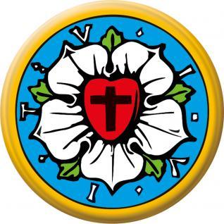 Anstecknadel Button Ansteckbutton mit Motivdruck - Luther- Rose - 06337