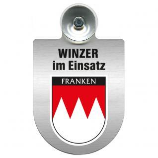 Einsatzschild Windschutzscheibe incl. Saugnapf - Winzer im Einsatz - 309466-18 Region Franken