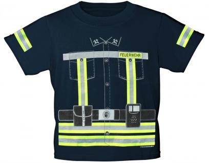 Kinder T-Shirt mit Vorder- und Rückenprint - Feuerwehr - 12701 marine - Gr. 86/92