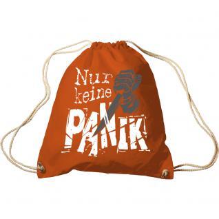 Trend-Bag mit Aufdruck - Nur keine Panik - 65026 - Turnbeutel Sporttasche Rucksack