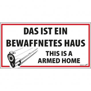 Hinweisschild Schild - Dies ist ein be... Haus - Gr. ca. 13, 3 cm x 6, 6 cm - 309623/1