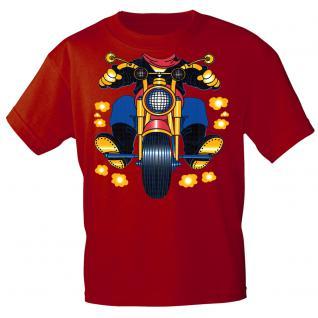 Kinder Marken-T-Shirt mit Motivdruck in 13 Farben Motorrad K12780 rot / 122/128
