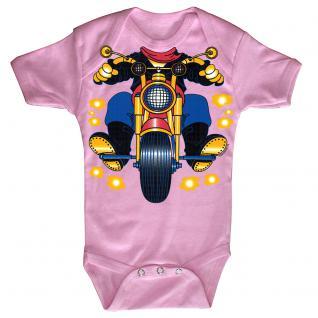 Baby-Body mit Druckmotiv Motorrad in 4 Farben und 4 Größen B12780 rosa / 0-6 Monate