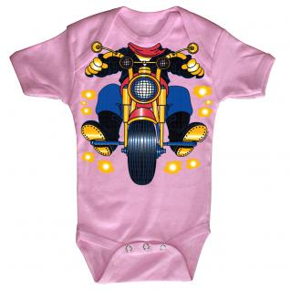 Baby-Body mit Druckmotiv Motorrad in 4 Farben und 4 Größen B12780 rosa / 12-18 Monate