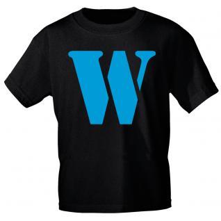 """Marken T-Shirt mit brillantem Aufdruck """" W"""" 85121-W L"""