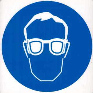 Hinweis- Schild - Schutzbrille tragen - Gr. 20 X 20 cm - 308303