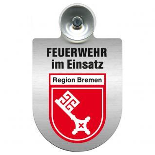 Einsatzschild Windschutzscheibe incl. Saugnapf - Feuerwehr im Einsatz - 309355 - Region Bremen