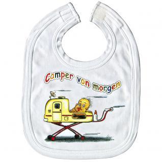 Baby-Lätzchen mit Druckmotiv - Camper von Morgen - 07025 weiß