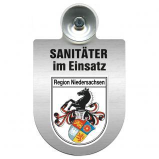 Einsatzschild Windschutzscheibe incl. Saugnapf - Sanitäter im Einsatz - 309396- Regionen nach Wahl Region Niedersachsen