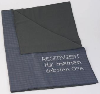 Decke Knieschutzdecke mit Einstickung - Reserviert für meinen liebsten Opa - 30201 - Gr. ca. 80cm x 80cm