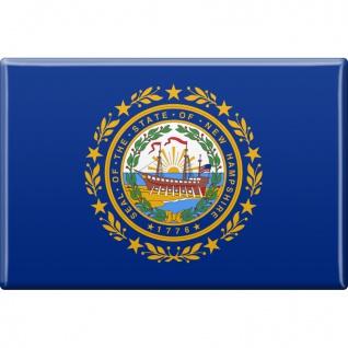 Magnet - US-Bundesstaat New Hampshire - Gr. ca. 8 x 5, 5 cm - 37129/1 - Küchenmagnet