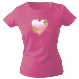 Girly-Shirt mit Print | Glitzerherz Herz | 12976 | Gr. rosa / S
