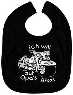 Baby-Lätzchen - Druckmotiv - Opas Bike - 07005 - schwarz