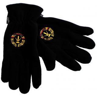 Handschuhe Fleece mit Einstickung DDR Wappen 31511 schwarz