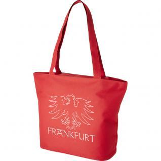 Modische Lifestyle-Tasche mit Motiv- Stickerei - Frankfurt - 15503 - Shopper Einkaufstasche Ticiana Montabri