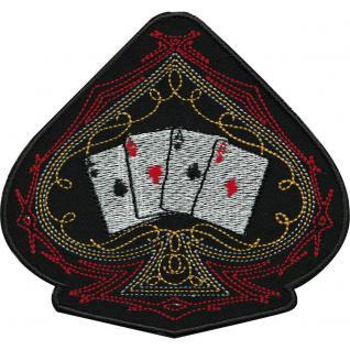 """Applikation Patches Aufnäher """" Spielkarten Herz"""" Gr. ca. 10, 5cm x 10cm (03138) Kartenspiel Poker Spiel Karten"""