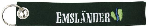 Filz-Schlüsselanhänger mit Stick Emsländer Gr. ca. 17x3cm 14181 schwarz