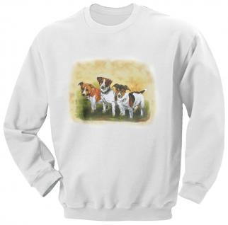 Sweatshirt mit Print - Jack Russel - 08677 weiß - ©Kollektion Bötzel - Gr.110-164